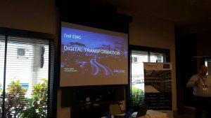 Apresentação sobre Digital Transformation, conduzida por Sergio Nunes (Storage Sales Specialist - Dell EMC)