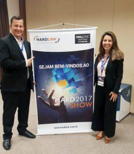 Martin Foster e Luciane Dalmolin (Partner Led Sales Director - Dell EMC)
